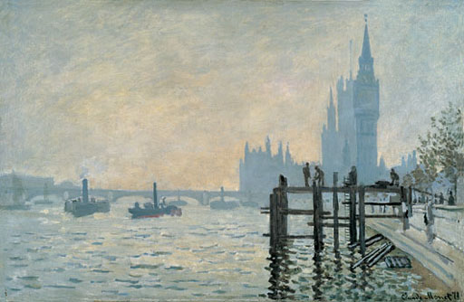 The Thames Below Westminster by Claude Monet 1871