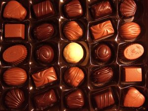 Chocolates by Hans Lindqvist, Wikipedia Commons (I have children who like to look at my blog!)