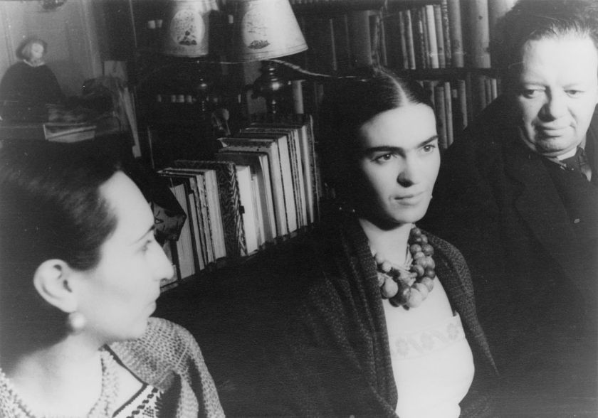 Diego Rivera (right) and Malu Block (left) and Frida Kahlo(centre) by Carl Van Vechten