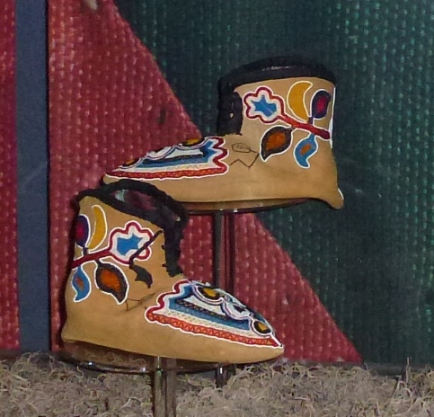 bata shoe museum mocassins by Caddo women in Oklahoma